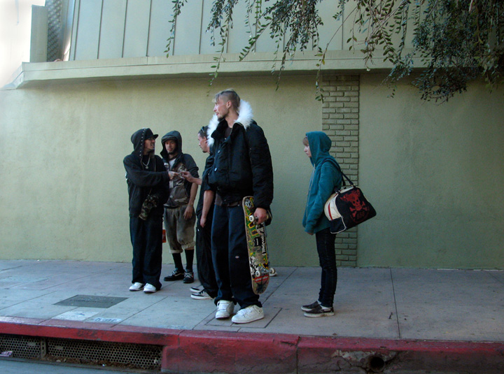 Jane Bowden - Young people on the street, Los Angeles